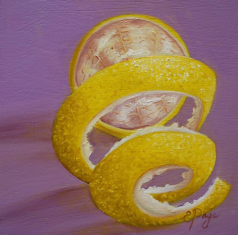 Lemon Twist I by emilypageart