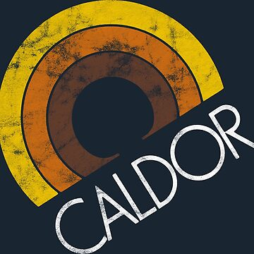 Caldor - White Text - distressed by turboglyde