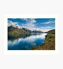 Beautiful Lake Wakatipu New Zealand Art Print