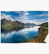 Beautiful Lake Wakatipu New Zealand Poster