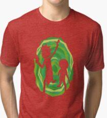 Rick and Morty - Portal Tri-blend T-Shirt