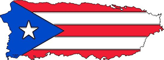 Quot Puerto Rico Map With Puerto Rican Flag Quot Photographic
