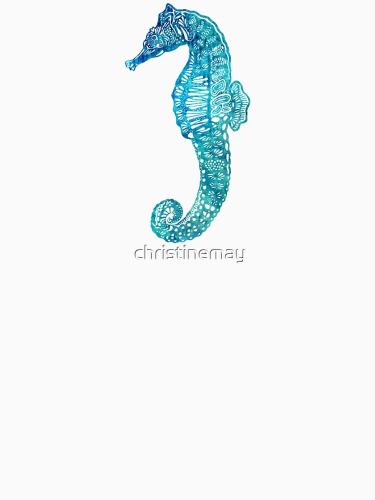 Teal Seahorse by christinemay