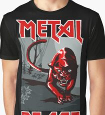 Metal Beast - Red Panther Graphic T-Shirt