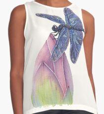 Dragonfly & Lotus Sleeveless Top