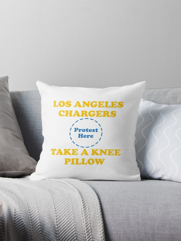 Chargers Take A Knee Pillow by Powbamboom