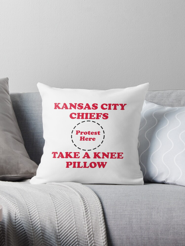 Chiefs Take A Knee Pillow by Powbamboom