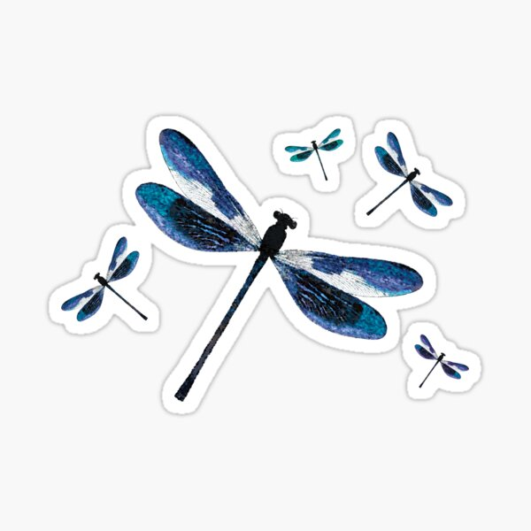 Dragonfly, Dragonflies, Magical Insects  Sticker
