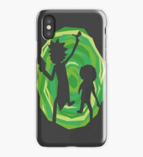 Rick and Morty - Portal - Black iPhone Case/Skin