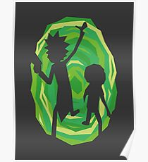 Rick and Morty - Portal - Black Poster