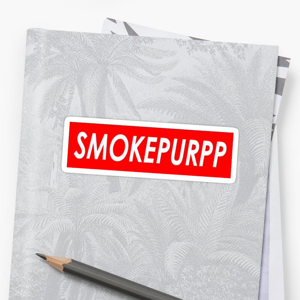 SMOKEPURPP Sticker Front