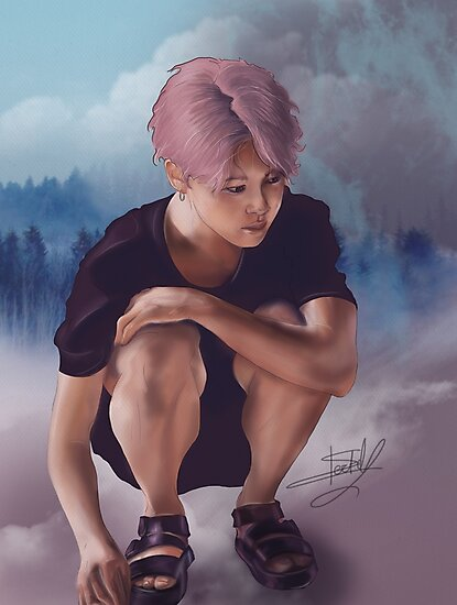 BTS - JIMIN Digital Drawing by k-stuffy