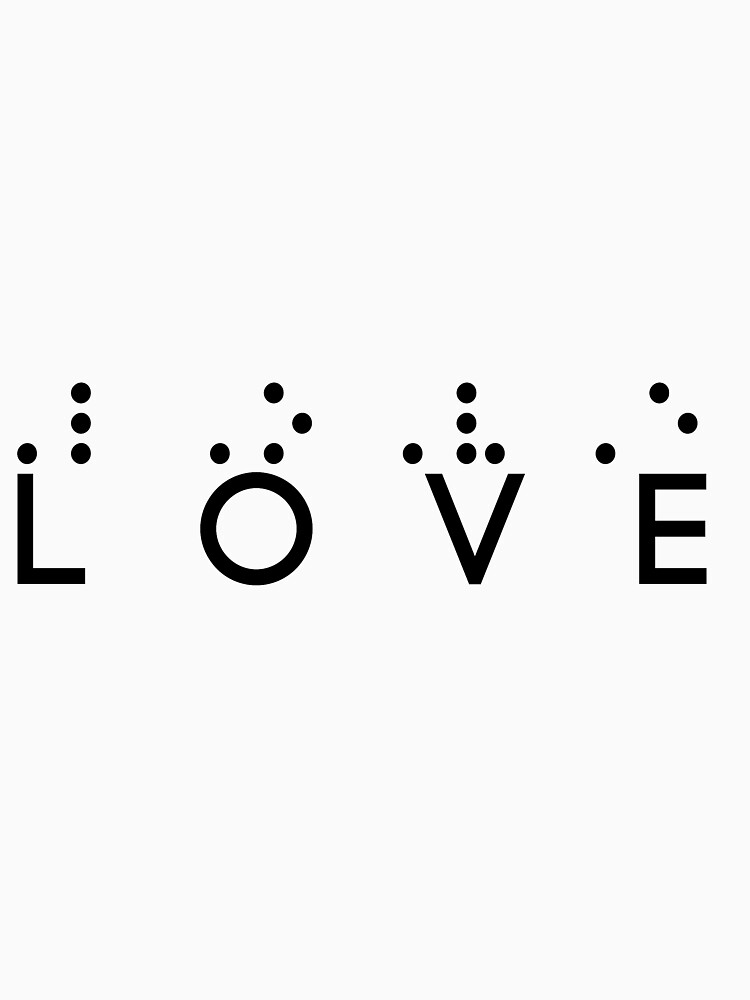 One Love In Braille by RoysDesignStuff