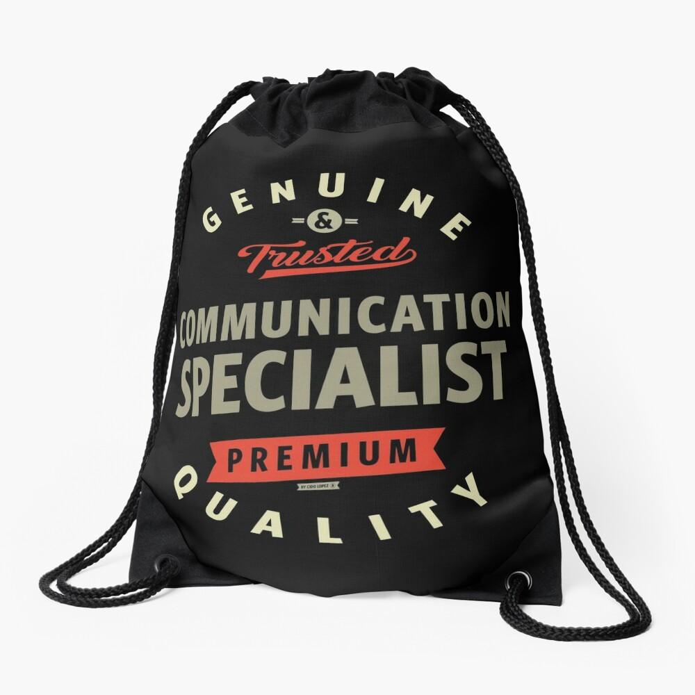 Communication Specialist Drawstring Bag