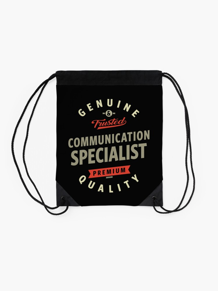 Alternate view of Communication Specialist Drawstring Bag