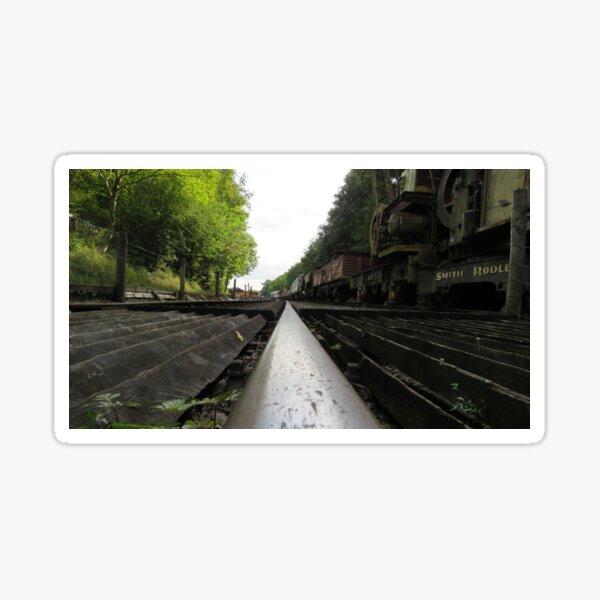 Railway track and trucks Sticker