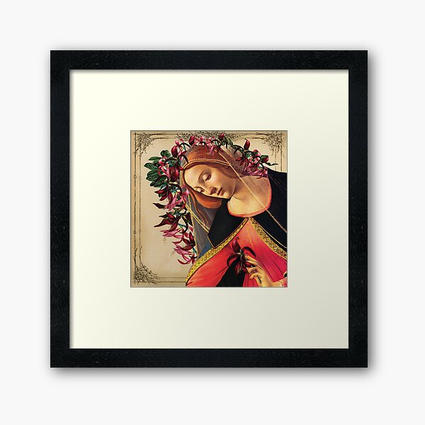 She Wore a Crown of Amaryllis Framed Art Print