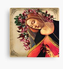She Wore a Crown of Amaryllis Canvas Print