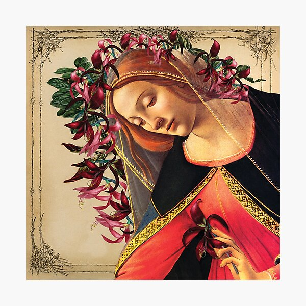 She Wore a Crown of Amaryllis Photographic Print
