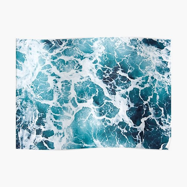 Pochette de vue aérienne Beautiful Ocean Waves Poster