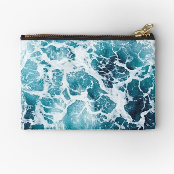 Beautiful Ocean Waves Aerial View Pouch Zipper Pouch