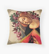 She Wore a Crown of Amaryllis Throw Pillow
