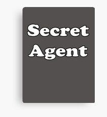 Secret Agent - Kids T-Shirt Baby Jumpsuit Canvas Print