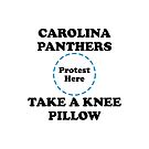 Panthers Take A Knee Pillow by Powbamboom