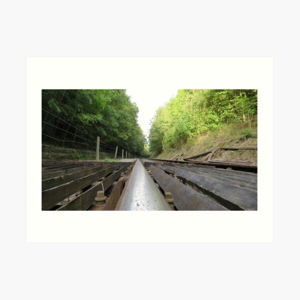 Railway Track no Trucks Art Print