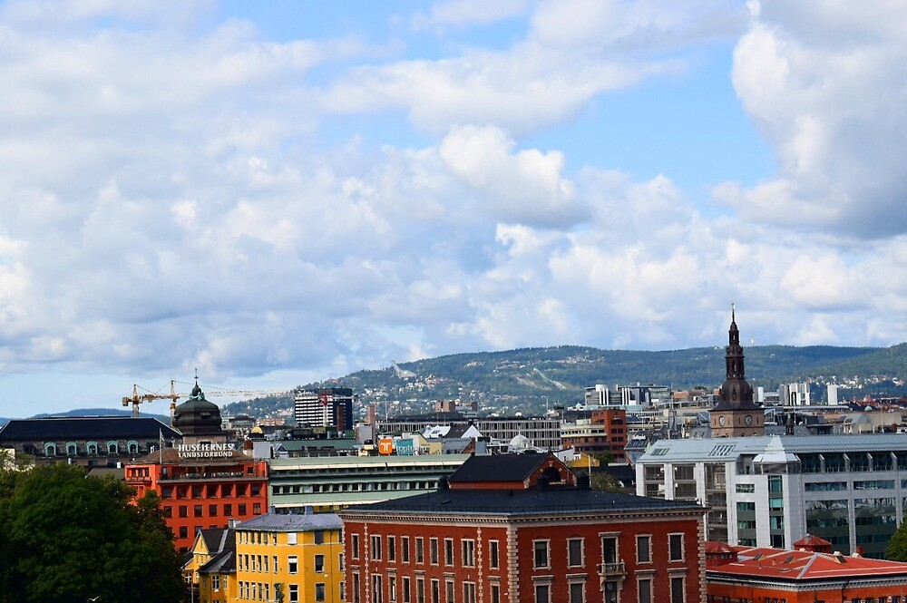 Beautiful Skyline in Oslo by indigopearl