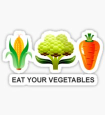 Eat Your Vegetables Sticker