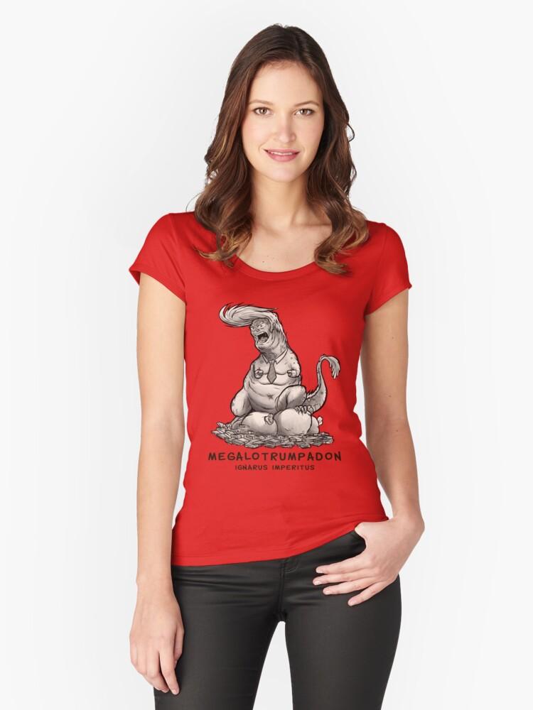 Megalotrumpadon - Dinosaur of Politics Women's Fitted Scoop T-Shirt Front
