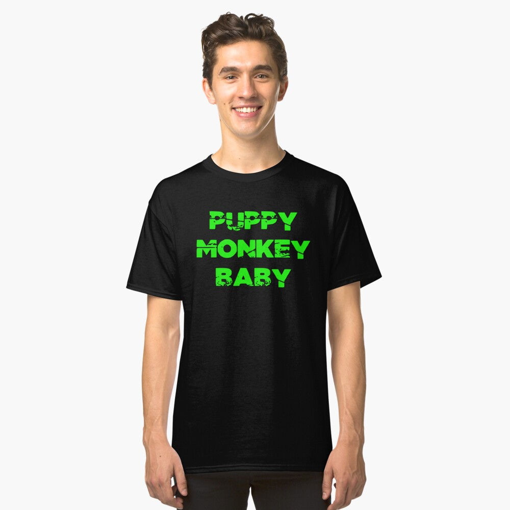 Puppy Monkey Baby  Classic T-Shirt Front