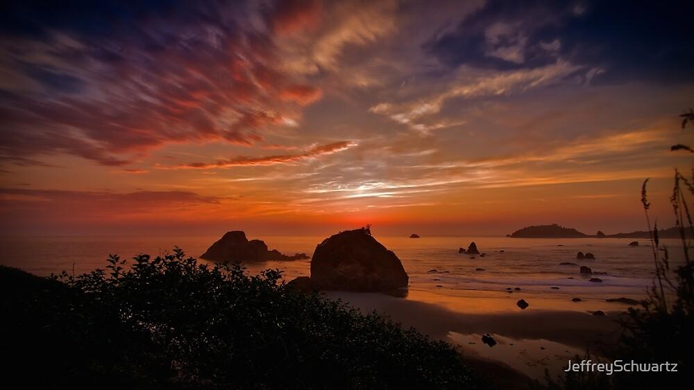 Sunset at Trinidad, California by JeffreySchwartz