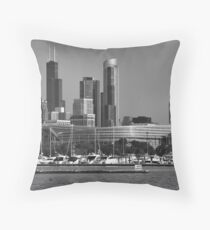 Chicago Soldier Field Throw Pillow