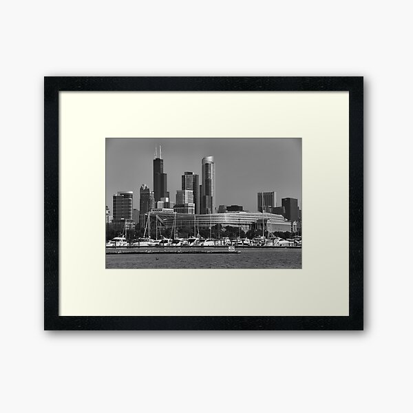 Chicago Soldier Field Framed Art Print