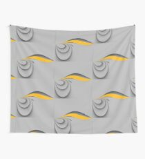 Grey yellow Wall Tapestry