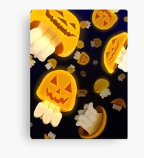 Jack-o-lantern Jellyfish Canvas Print