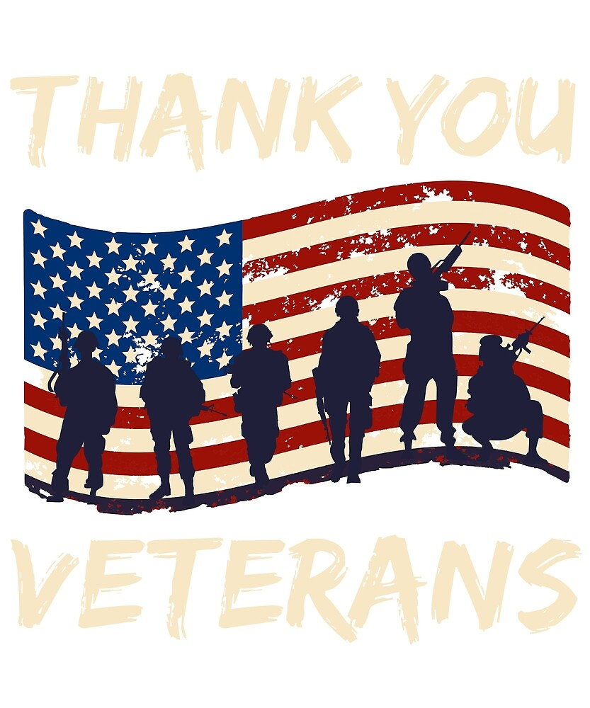 Thank You Veterans US Military US Army Thank You Gift by TeesByDesign