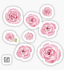 Watercolor Rose Sticker Pack (Large) Sticker