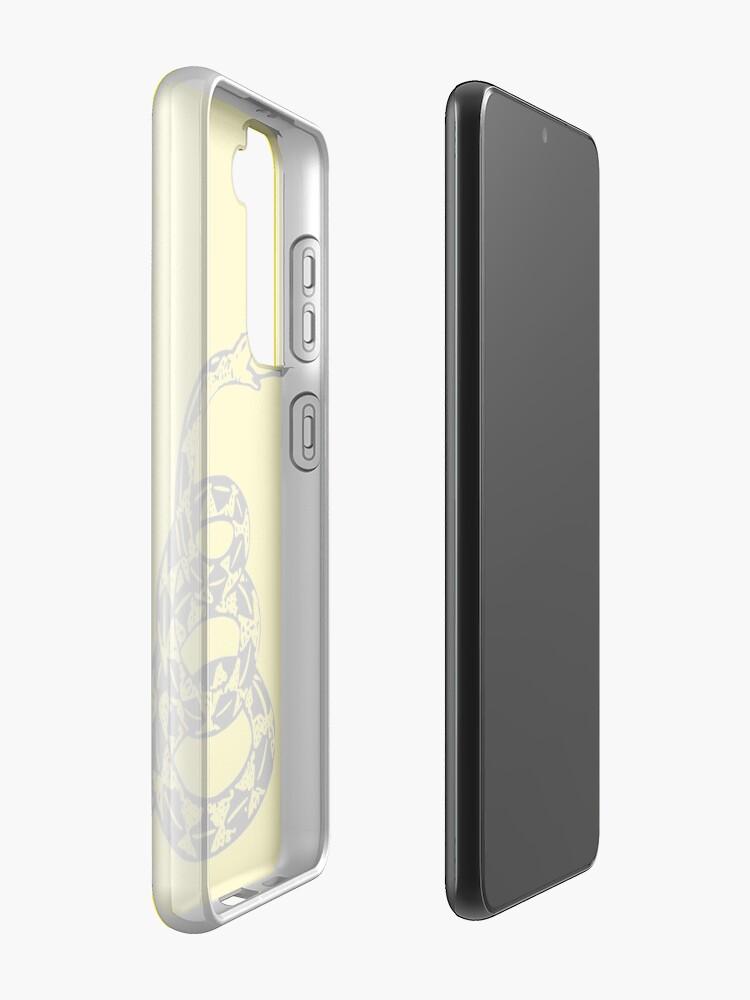 Vista alternativa de Funda y vinilo para Samsung Galaxy Serpiente de cascabel