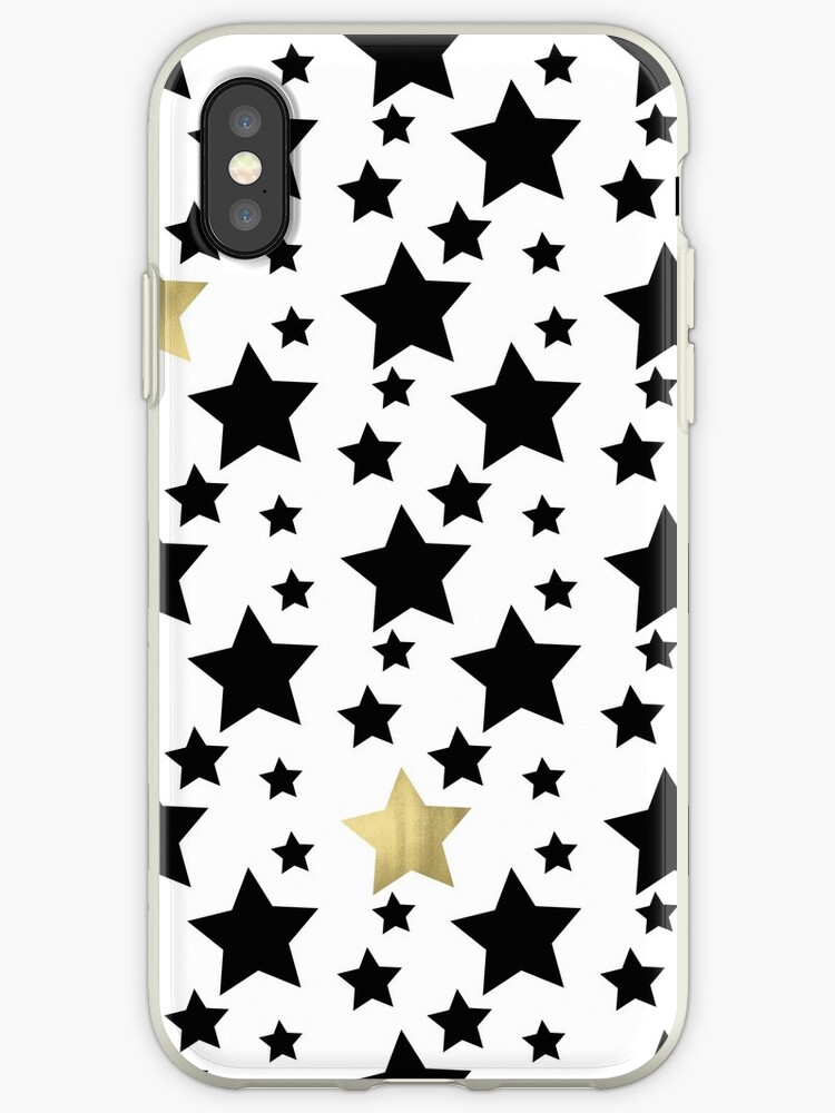 Black and Gold Stars by pencreations