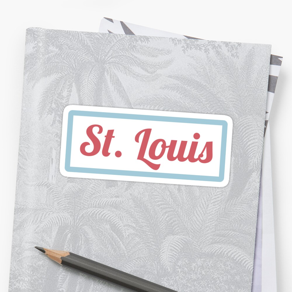 St. Louis Sticker by Rachel Ribolzi