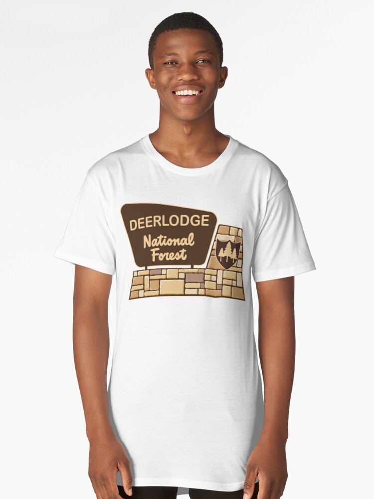Deerlodge National Forest Long T-Shirt Front