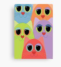 CAT FACES FIVE Canvas Print