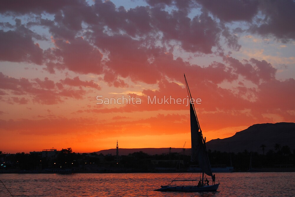 Against the setting sun by Sanchita  Mukherjee