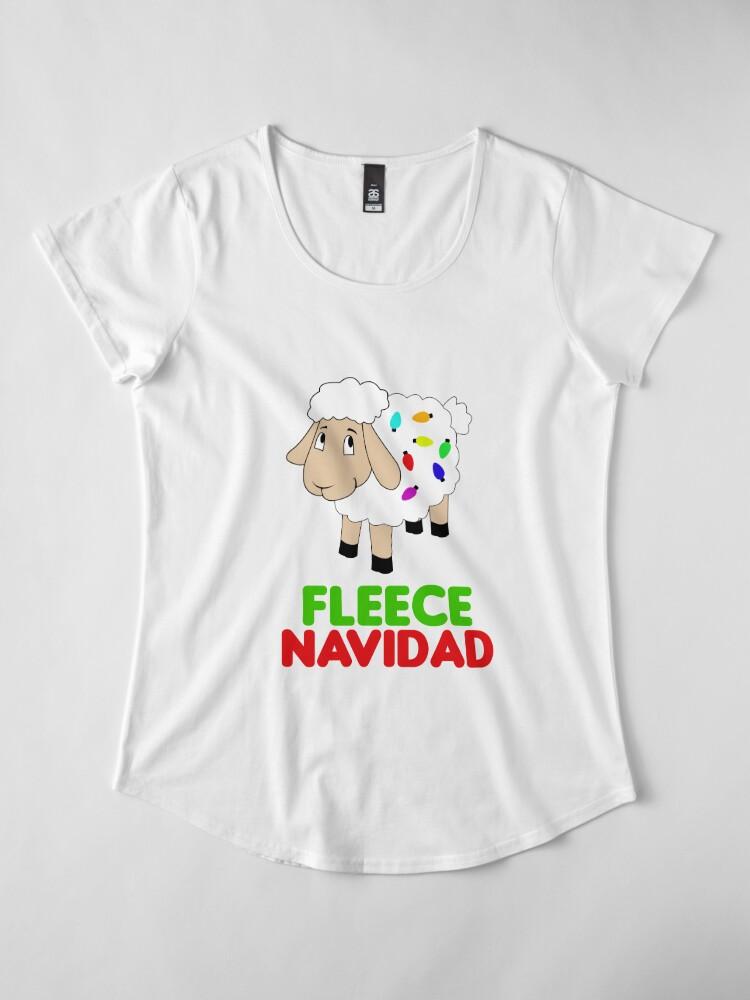 Alternate view of Fleece Navidad Premium Scoop T-Shirt