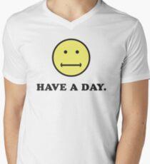 Haben Sie einen Tag trocken pessimistisch noch Spaß Humor T-Shirt mit V-Ausschnitt