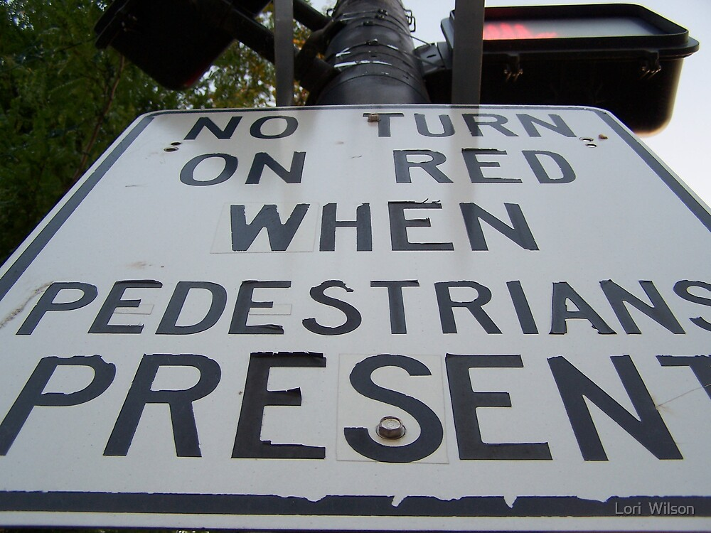 No Turn on Red by Lori  Wilson
