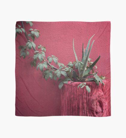 Rosa und Pflanze Tuch